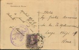 1939 CENSURA MILITAR DE MADRID SU CARTA DE MADRID MINISTERIO DE MARINA - 1931-Aujourd'hui: II. République - ....Juan Carlos I