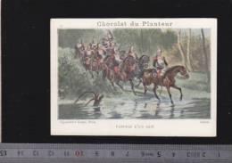 Chromo Circa1900 - Chocolat Du Planteur - Goupil - Militaire - 28 Passage Gue A Cheval - Other