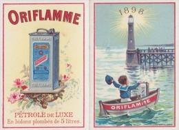 CALENDRIER 1898 -  PUBLICITE ORIFLAMME - ESSENCE - MARIN - PHARE