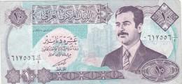 2058A,  BANKNOTE, TEN DINARS, CENTRAL BANK OF IRAK, IRAK.