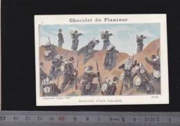 Chromo Circa1900 - Chocolat Du Planteur - Goupin -  Militaire -  11 Escale Sabliere Dune - Other