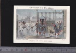 Chromo Circa1900 - Chocolat Du Planteur - Goupin -  Militaire -  2 Relevement Sentinelle - Other