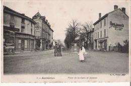 AMBERIEU 4 PLACE DE LA GARE ET AVENUE (PETITE ANIMATION) - France