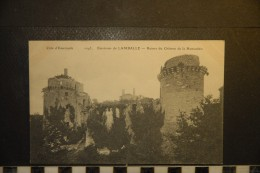 CP, 22, Environs De LAMBALLE Ruines Du Chateau De La Hunaudaie N°1043 Edition ELD RARE Plan - Lamballe