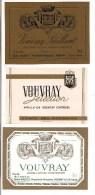 Etiquettes  Vin  De VOUVRAY : M.Douzilly Et Comte Des Rochains - - Lots & Sammlungen