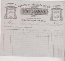 (LOIRE)RIVE DE GIER ;fabrique De Poeles & Fourneaux , Lampisterie , CHAMPIN , Successeur De CHIRAT , Rue Feloin - Old Professions
