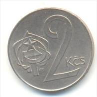 CECOSLOVACCHIA 2 KORONE  ANNO 1990 - Cecoslovacchia