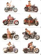 SERIE COMPLETA DE 8 CALENDARIOS DEL AÑO 2011 DE MOTOS Y PIN UPS  Nº1(CALENDRIER-CALENDAR) WOMAN-MUJER SEXI-MOTORBIKE - Tamaño Pequeño : 2001-...