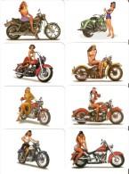 SERIE COMPLETA DE 8 CALENDARIOS DEL AÑO 2011 DE MOTOS Y PIN UPS  Nº2(CALENDRIER-CALENDAR) WOMAN-MUJER SEXI-MOTORBIKE - Calendarios