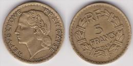 5 FRANCS LAVRILLIER Bronze Alu 1946 C Cupro Alu (voir Scan) 1 - J. 5 Franchi