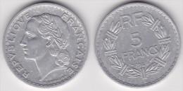 5 FRANCS LAVRILLIER ALUMINIUM 1946 C  (voir Scan) 1 - J. 5 Franchi