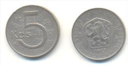 CECOSLOVACCHIA 5 KORONE  ANNO 1973 - Cecoslovacchia