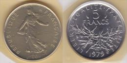 5 FRANCS SEMEUSE CUPRO NICKEL 1979 FDC SOUS BLISTER  (voir Scan) - J. 5 Francs