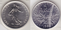 5 FRANCS SEMEUSE CUPRO NICKEL 1980 FDC SOUS BLISTER  (voir Scan) - France