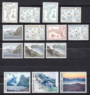 FEROE 1975 - PRIMERA SERIE - MAPAS ANTIGUOS Y PINTURAS - YVERT Nº 1-14 - Féroé (Iles)