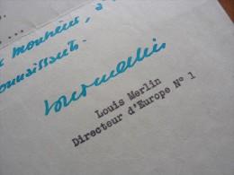 Louis MERLIN (1901-1976) Journaliste - Directeur Radio EUROPE 1 - AUTOGRAPHE - Autographes