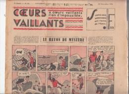 Journal Coeurs Vaillants,   N� 47 du 22 novembre 1936,Jo et Zette , Tintin et Milou en extr�me Orient