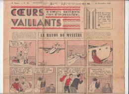 Journal Coeurs Vaillants,   N� 48 du 29 novembre 1936,Jo et Zette , Tintin et Milou en extr�me Orient
