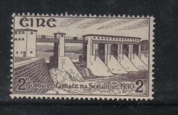 W1901 - IRLANDA , 2 P. N. 58 ** MNH . Shannon . Gomma Sporca - 1922-37 Stato Libero D'Irlanda