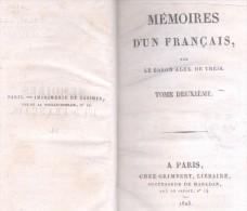 MEMOIRES D'UN FRANCAIS - LE BARON ALEX DE THEIS OEUVRE COMPLETE 3 TOMES AÑO 1825 MEDIO CUERO MARRON RARISIME UNCOTOURNAB - Boeken, Tijdschriften, Stripverhalen