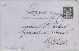 St Vallier (26 Drôme) Pour Sarras (Ardèche 07) + Boitier G   état  TB - 1877-1920: Periodo Semi Moderno
