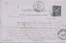 Tain (Drôme 26) Pour Sarras (Ardèche 07) +  Boitier G   état  TB - 1877-1920: Periodo Semi Moderno