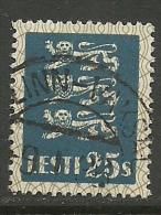 ESTLAND ESTONIA 1935 Michel 107 O Gut Gestempelt Tallinn-Vaksal - Estland