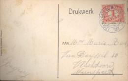 Nederland Anzichtkaart  Bij Het Uddelermeer Met NVPHno. 51 En Stempel  Legerplaats Bij Millingen (33544) - Covers & Documents