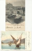 LAUSANNE (LOSANNA) - SPLENDIDO LOTTO DI 4 CARTOLINE DEGLI ANNI 1901 1902 - VD Vaud