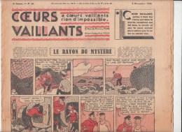 Journal Coeurs Vaillants,   N� 45 du 8 novembre 1936,Jo et Zette , Tintin et Milou en extr�me Orient