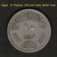 EGYPT   10  PIASTRES  1972 (AH 1392)  (KM # 430) - Egypt