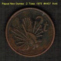 PAPUA NEW GUINEA   2  TOEA  1975  (KM # 2) - Papúa Nueva Guinea