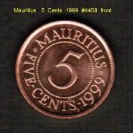 MAURITIUS   5  CENTS   1999  (KM # 52) - Mauritius