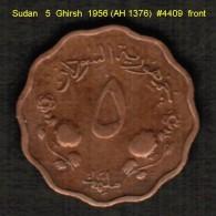 SUDAN   5  GHIRSH   1956 (AH 1376)  (KM # 34.1) - Sudan