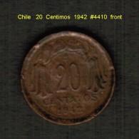 CHILE   20  CENTIMOS   1942  (KM # 177) - Chile