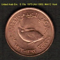 UNITED ARAB EMIRATES   5  FILS   1973 (AH 1393)  (KM # 2.1) - United Arab Emirates