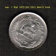 IRAN   1  RIAL   1972 (SH 1351)  (KM # 1183) - Iran