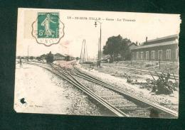 Is sur Tille (21) - Gare - Le transit ( chemin de fer train cachet ferroviaire Dijon � Chalindrey ed. Tartary en l'�tat