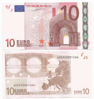 BANCONOTA DA 10 EURO S ITALIA J005 DUISEMBERG UNC FDS RARA RARA RARA - EURO