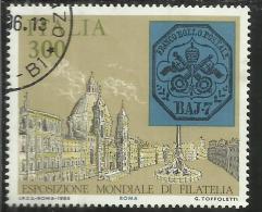 ITALIA REPUBBLICA ITALY REPUBLIC 1985 ESPOSIZIONE MONDIALE FILATELIA  ANTICHI STATI STATO PONTIFICIO USATO USED - 1981-90: Gebraucht