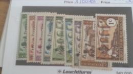 LOT 233632 TIMBRE DE COLONIE AEF NEUF**/* N�156 A 164 VALEUR 30 EUROS