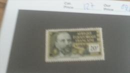LOT 233633 TIMBRE DE COLONIE AEF NEUF* N�127 VALEUR 20 EUROS