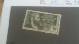 LOT 233634 TIMBRE DE COLONIE AEF NEUF* N�128 VALEUR 24 EUROS