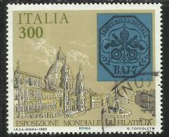ITALIA REPUBBLICA ITALY REPUBLIC 1985 ESPOSIZIONE MONDIALE FILATELIA  ANTICHI STATI STATO PONTIFICIO USATO USED - 1981-90: Usati