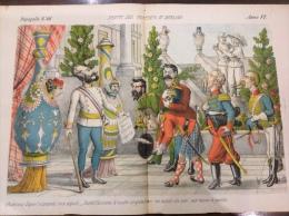 1878 Journal satirique LE PERROQUET / PAPAGALO N�46 / AUTRICHIEN / FABRIQUE DES SAUCISSONS DE BOLOGNE