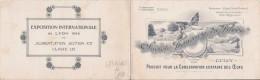 CARTE DE VISITE ANCIENNE 1914 STE FRANCAISE DU FILOVO  LYON (CONSERVATION DES OEUFS) OEUF ET POULE EN ILLUSTRATION. - Visiting Cards