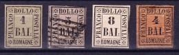 Romagna -Lot Von 4 Marken 1*, 4*, 5 Gest. U 8* Bal Mi.#1, 2, 3, 5 U 6. - Romagne