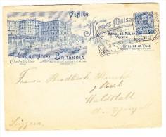Grand Hotel Britannia Venedig Illustr. Brief Von 13.7.1907 Venezia Nach Waldstatt Appenzell - 1900-44 Victor Emmanuel III.