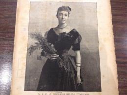1890 LA PRINCESSE H�l�ne D'ORL�ANS - F�TES D'ORL�ANS - LA PARFUMERIE ORIZA MAISON LEGRAND Place de la madeleine PARIS
