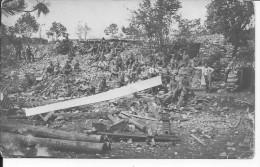 Camp De Soldats Autrichiens Au Milieu Des Ruines 1 Carte Photo 1914-1918 14-18 Ww1 Wk1 WWI - War, Military